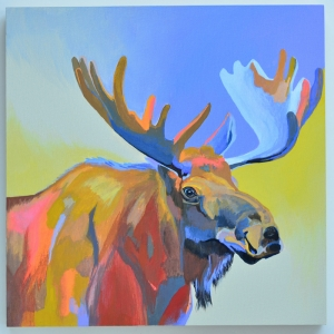 Geyik-42 Hayvanlar Modern Sanat Kanvas Tablo