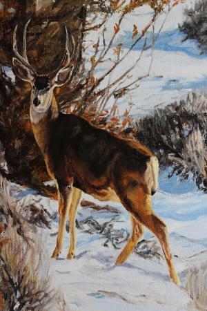 Geyik-46 Hayvanlar Modern Sanat Kanvas Tablo