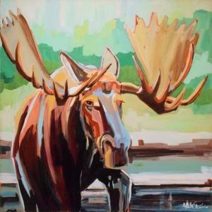 Geyik-47 Hayvanlar Modern Sanat Kanvas Tablo