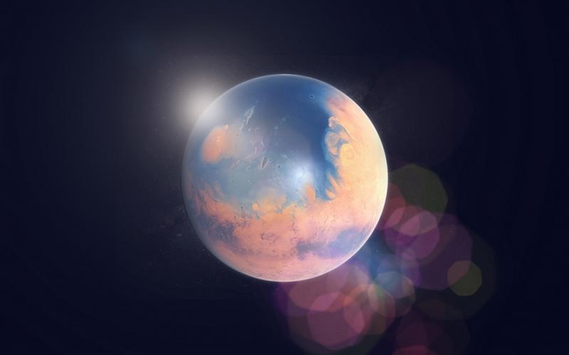 Gezegen 2 Dünya & Uzay Kanvas Tablo
