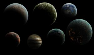 Gezegen Görünümleri Dünya & Uzay Kanvas Tablo