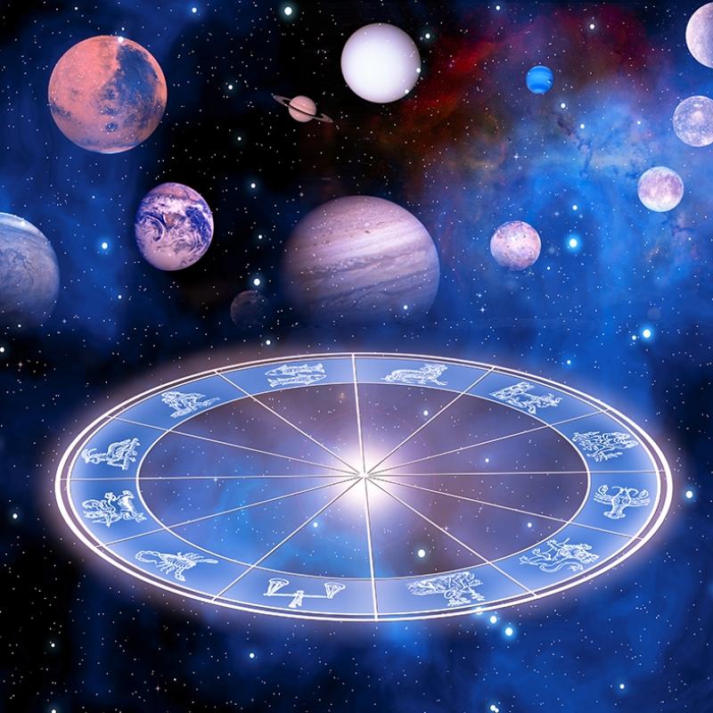 Gezegenler ve Yıldız Haritası Astroloji & Burçlar Kanvas Tablo