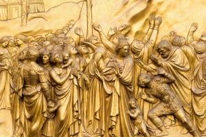 Ghibertis Gates of Paradise 15.yy Floransa Italya Sanat Kanvas Tablo