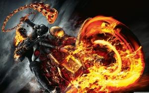 Ghost Rider Süper Kahramanlar Kanvas Tablo