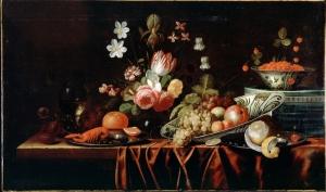 Gillemans Jan Pauwel Meyve Ve Çiçekler Yağlı Boya Klasik Sanat Kanvas Tablo