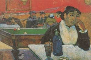Ginoux Un Arles deki Akşam Kahvesi, Night Cafe In Arles Madame Ginoux  Paul Gauguin Reproduksiyon Kanvas Tablo