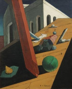 Giorgio De Chirico 1 Soyut Yağlı Boya Klasik Sanat Kanvas Tablo
