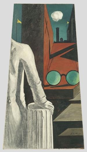 Giorgio De Chirico 4 Soyut Yağlı Boya Klasik Sanat Canvas Tablo