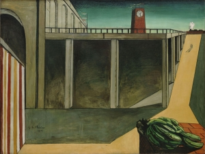 Giorgio De Chirico Gare Soyut Yağlı Boya Klasik Sanat Canvas Tablo