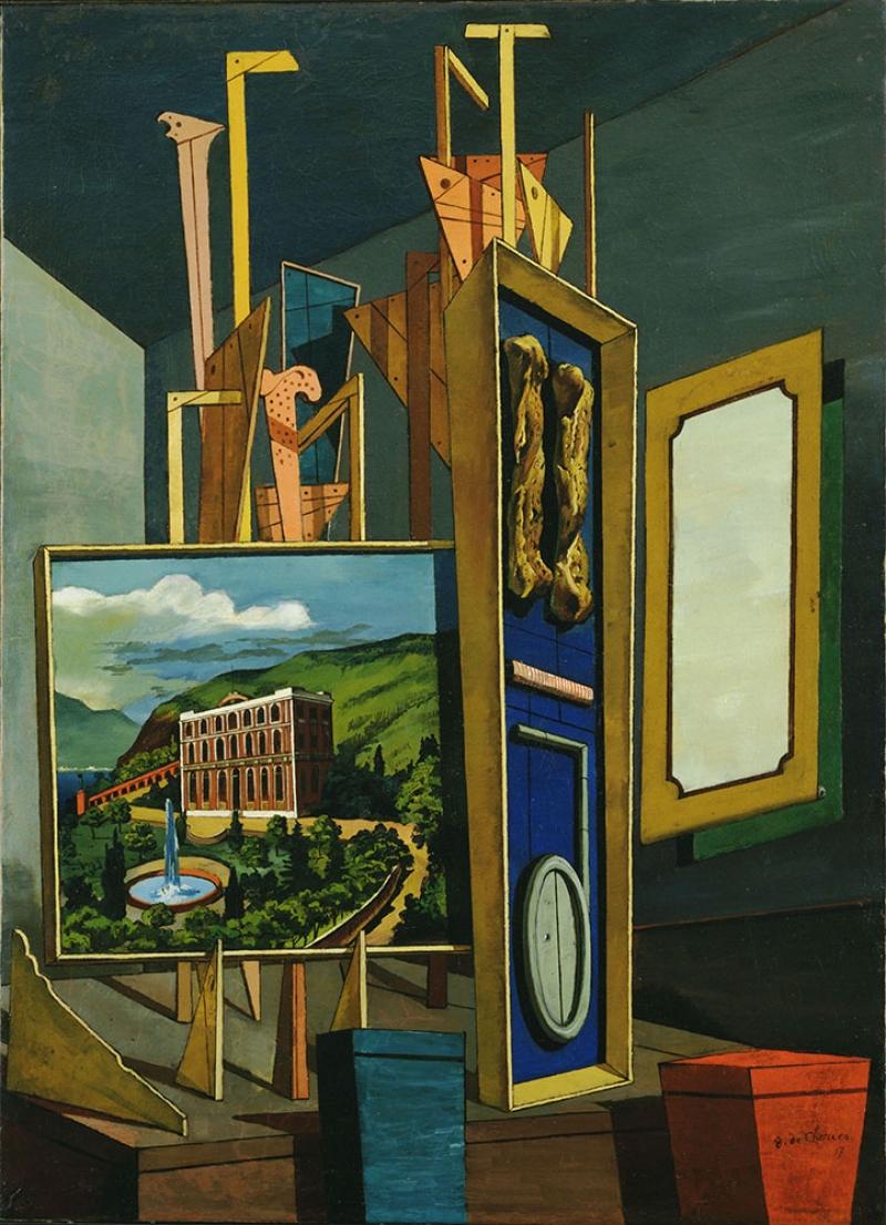 Giorgio De Chirico Mukemmel Metafizik Soyut Yağlı Boya Klasik Sanat Canvas Tablo