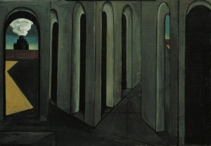 Giorgio De Chirico Seyahat Soyut Yağlı Boya Klasik Sanat Canvas Tablo