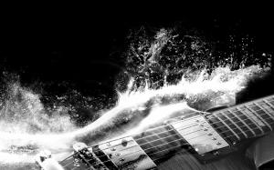 Gitar Müzik Siyah Beyaz Fotoğraf Kanvas Tablo