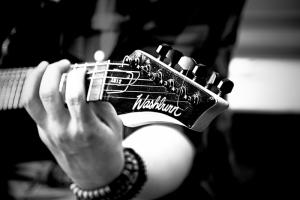 Gitarist 4 Siyah Beyaz Fotoğraf Kanvas Tablo