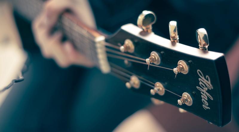 Gitarist Fotoğraf Kanvas Tablo