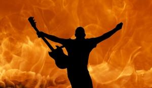 Gitarlı Adam Fotoğraf Kanvas Tablo
