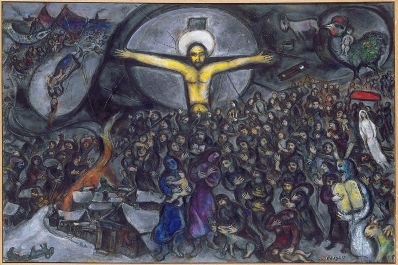 Göç Marc Chagall The Exodus Klasik Sanat Kanvas Tablo