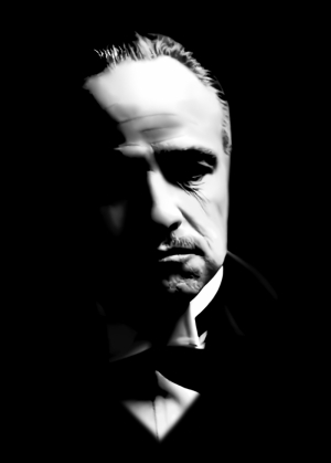 Godfather Baba Portre Siyah Tablo 2