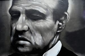 Godfather - Babaa Marlon Brando Popüler Kültür Kanvas Tablo