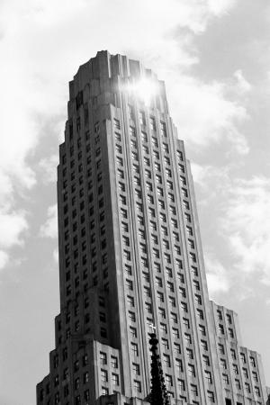 Gökdelen Siyah Beyaz Fotoğraf Kanvas Tablo