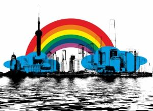 Gökkuşağı ve Şehir Popüler Kültür Kanvas Tablo