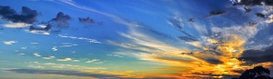 Gökyüzü Panaromik Kanvas Tablo