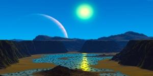 Gökyüzü Uzay Yeryüzü Doğa Manzaraları Kanvas Tablo