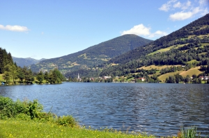 Göl Dağ Orman 5 Berrak Su Güzel Doğa Manzaraları Kanvas Tablo