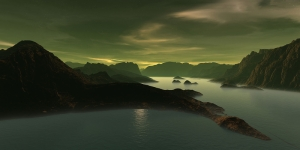 Göl Dağ Orman 7 Berrak Su Güzel Doğa Manzaraları Kanvas Tablo