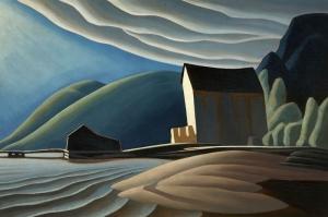 Göl Üzerindeki Buz Ev Lawren Harrance Klasik Sanat Kanvas Tablo