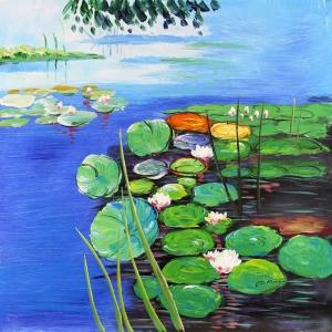 Göl Zambakları 2 Dekoratif Kanvas Tablo