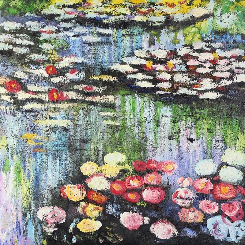 Göl Zambakları 3 Dekoratif Kanvas Tablo