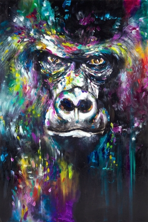 Goriller-1 Hayvanlar Klasik Sanat Kanvas Tablo