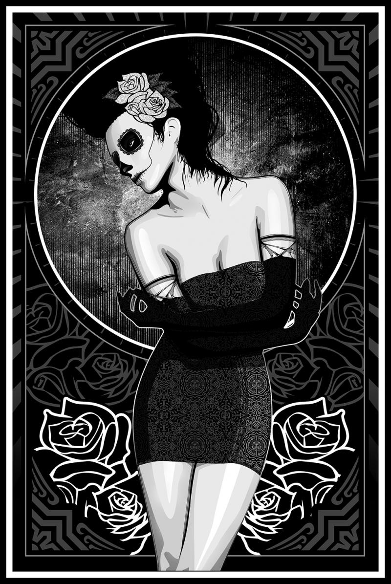 Gothik Kız Popüler Kültür Kanvas Tablo