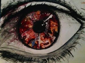 Göz Yağlı Boya Sanat Kanvas Tablo
