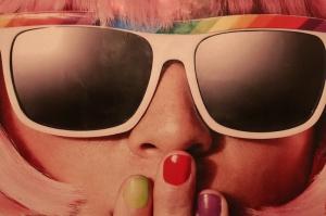 Gözlüklü Kız Popüler Kültür Kanvas Tablo