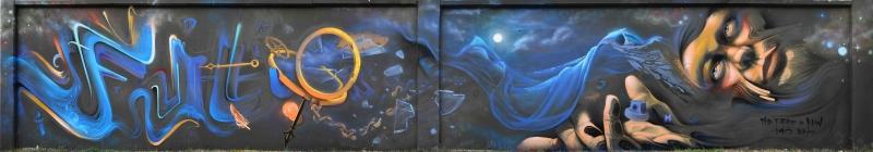 Grafiti 5 Panaromik Kanvas Tablo