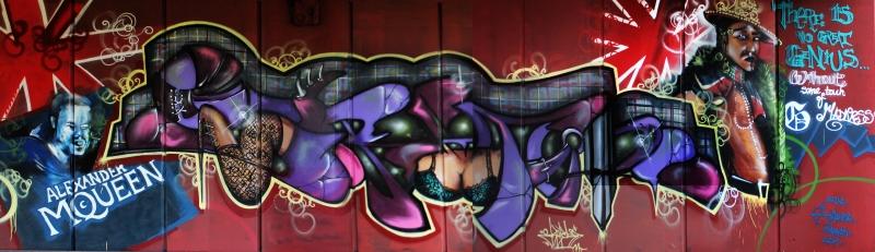 Grafiti 8 Panaromik Kanvas Tablo