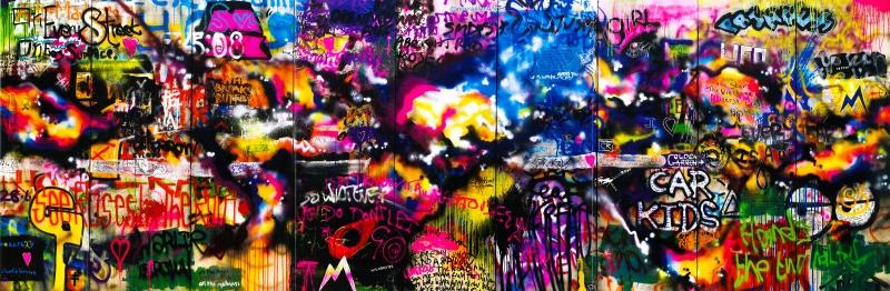 Grafiti Panaromik Kanvas Tablo