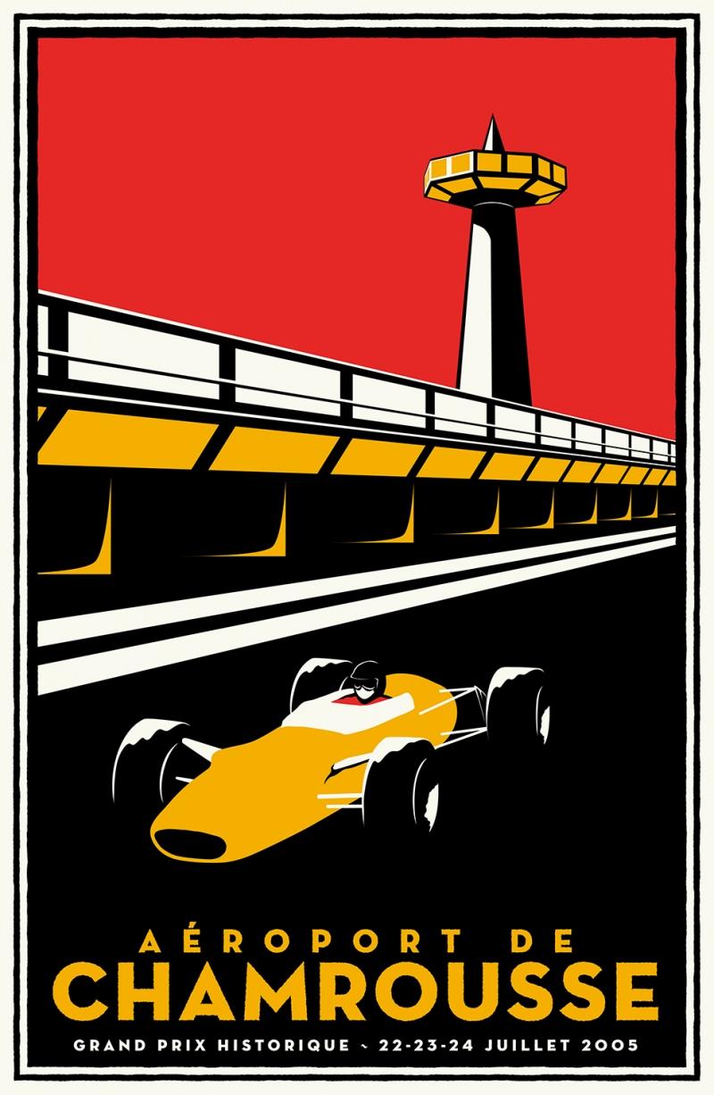 Grand Prix Poster Retro & Motto Kanvas Tablo