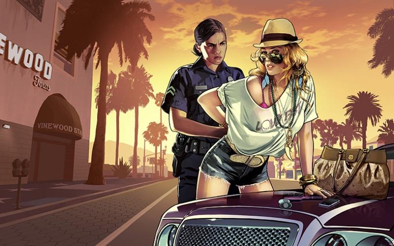 Grand Theft Auto V Popüler Kültür Kanvas Tablo