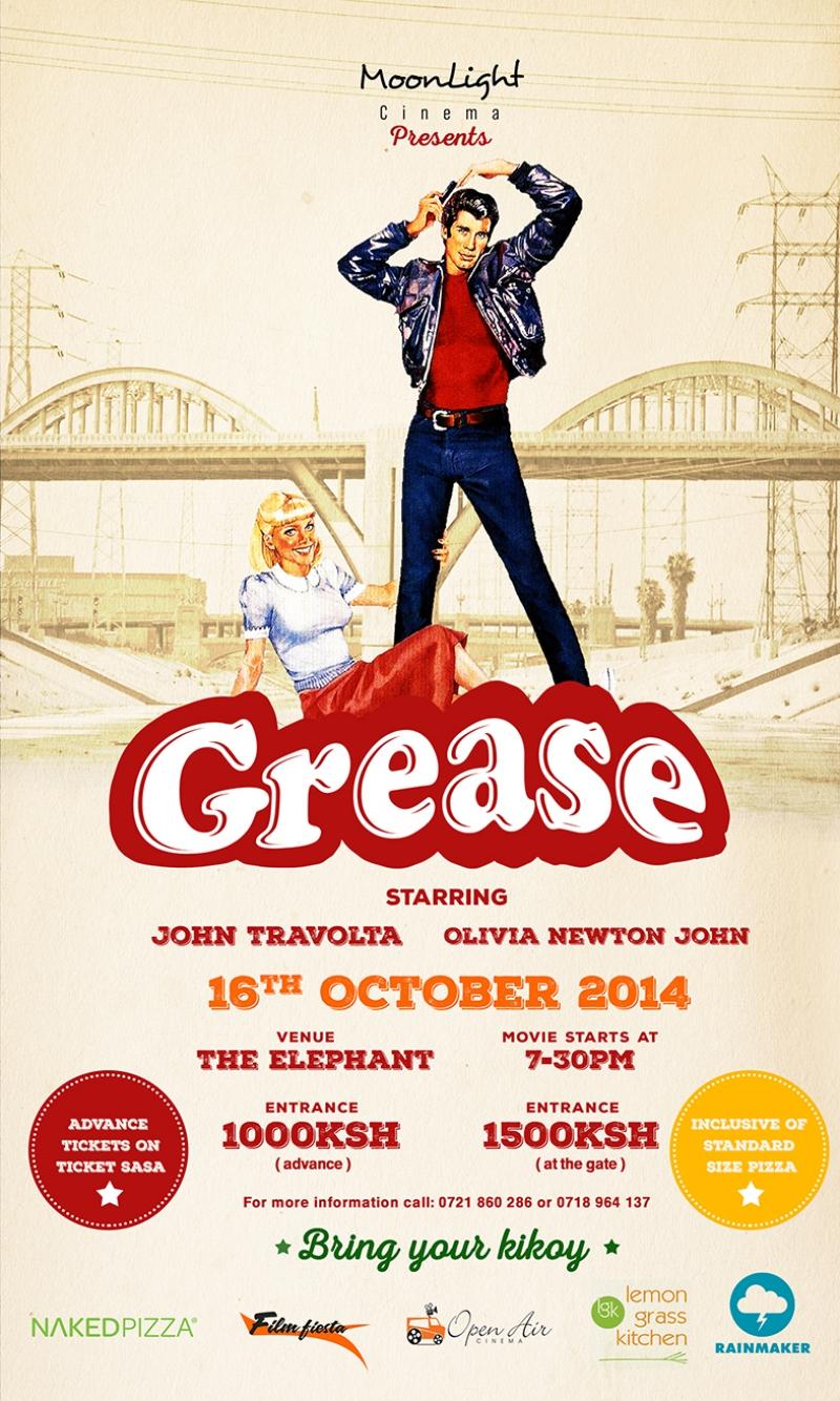 Grease Poster Retro Eski Film Kanvas Tablo