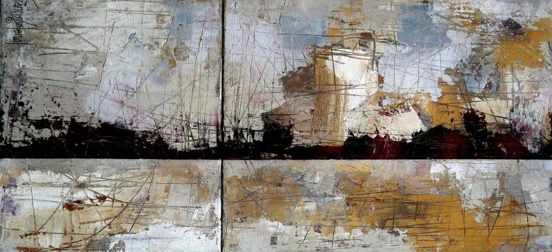 Gri Siyah Renkler Soyut Yağlı Boya Abstract Kanvas Tablo