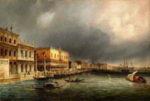 Grubas Venedik Kanal Manzaraları Klasik Sanat Canvas Tablo