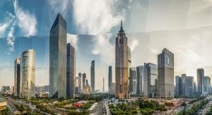 Guangzhou Gökdelen Panaromik Dünyaca Ünlü Şehirler Kanvas Tablo