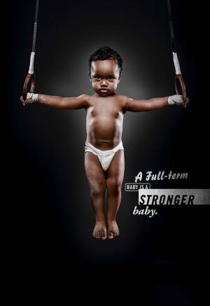 Güçlü Bebek Siyahi Zenci Spor Kanvas Tablo