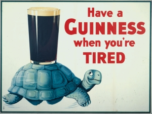 Guinness Bira Reklam Retro & Motto Kanvas Tablo