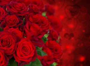 Gül Buketi Aşk & Sevgi Kanvas Tablo