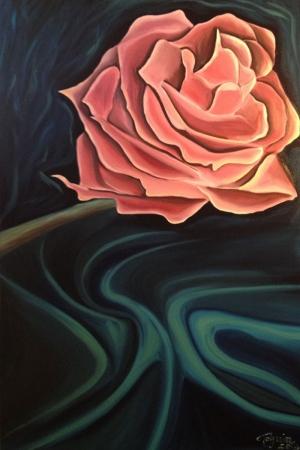 Gül Floral Sanat Kanvas Tablo