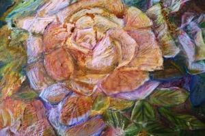Güller 4 Pembe Kırmızı Beyaz Yağlı Boya Sanat Kanvas Tablo