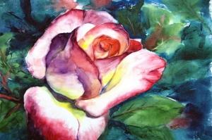 Güller 6 Pembe Kırmızı Beyaz Yağlı Boya Sanat Kanvas Tablo